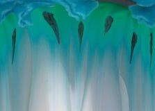 Seltsamer blauer Auszug Stockbild