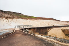 Seltun地热地区在Krysuvik,冰岛 免版税库存图片