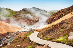 Seltun geothermal area in Iceland Royalty Free Stock Image