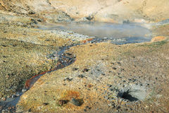 Seltun geothermal area Royalty Free Stock Photos