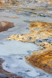 Seltun geothermal area in Reykjanes Peninsula of Southern Icelan Stock Photography