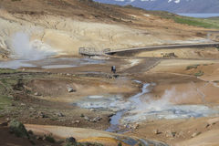 Seltun geothermal area in Reykjanes Royalty Free Stock Images