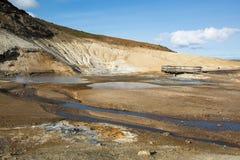 Seltun geothermal area with thermal mud springs, Krysuvik, Iceland Stock Images