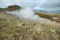 Seltun geothermisch gebied royalty-vrije stock foto