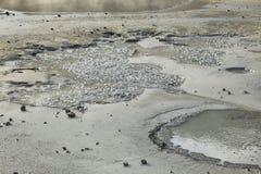 Seltun geothermisch gebied stock afbeeldingen