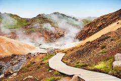 Seltun geothermisch gebied in IJsland royalty-vrije stock afbeelding