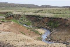 Seltun geothermisch gebied in Reykjanes Royalty-vrije Stock Afbeeldingen