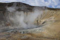 Seltun geothermisch gebied in Reykjanes Stock Foto's