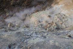 Seltun geothermisch gebied in Reykjanes Stock Foto