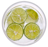 Seltzer with Limes Stock Image