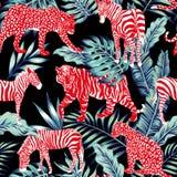 Selva azul animal roja Foto de archivo libre de regalías