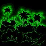 Selva de neón estilizada Imagenes de archivo