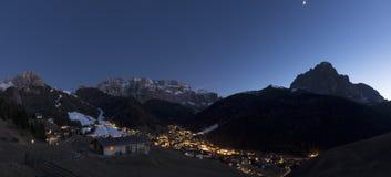 Selva di Val Gardena, evening Stock Images