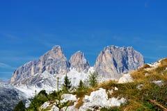 Selva di Val Gardena Trentino-alt Adige, Italien Royaltyfri Foto