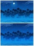 Selva em horizontal sem emenda da noite se necessário Fotografia de Stock Royalty Free