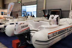 Selva Inflatable Boats - båtmässa Roma Arkivfoto