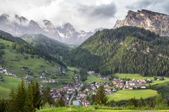 Selva village in South Tirol, Dolomites, Italy Royalty Free Stock Photography