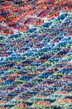 Selvage του ζωηρόχρωμου terrycloth, λεπτομέρεια στοκ εικόνες