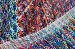 Selvage of colorful terrycloth, detail Royalty Free Stock Photo