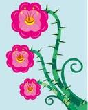 Selvagem ondulando uma rosa. ilustração stock