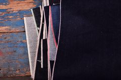 selvedge τζιν backgroud Στοκ εικόνα με δικαίωμα ελεύθερης χρήσης