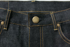 Selvedge denim jeans closeups Royalty Free Stock Image