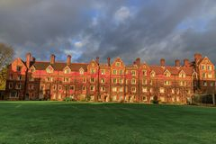 Selwyn College established in 1882 stock images