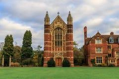 Selwyn College ha stabilito nel 1882 fotografie stock