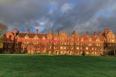 Selwyn College in 1882 wordt gevestigd die stock afbeeldingen
