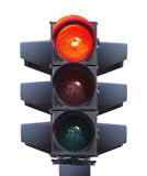 Semáforo aislado Imagen de archivo