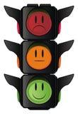 Semáforo con diversas emociones ilustración del vector