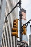 Semáforo de NYC Imagen de archivo libre de regalías