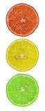 Semáforo de rebanadas de limón Fotos de archivo libres de regalías