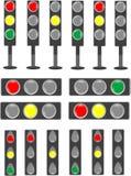 Semáforo del semáforo y de la barra de estatus Fotos de archivo