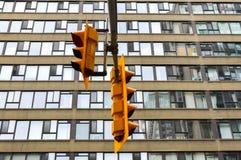 Semáforo en Toronto céntrico Imágenes de archivo libres de regalías