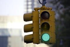 Semáforo en verde Fotografía de archivo