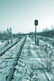 Semáforo ferroviario. hdr imágenes de archivo libres de regalías