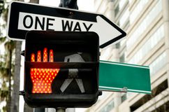 Semáforo peatonal Imágenes de archivo libres de regalías