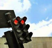 Semáforo rojo Foto de archivo libre de regalías