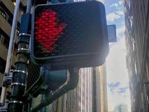 Semáforo rojo encendido foto de archivo