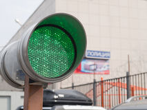 Semáforo verde Imagenes de archivo