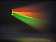 Semáforos abstractos en fondo del vector de la niebla stock de ilustración