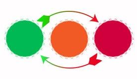 Semáforos con las flechas para el progreso Foto de archivo