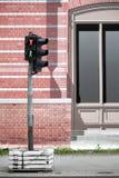 Semáforos contra lona de la cubierta de la calle Imagen de archivo