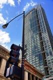 Semáforos en Chicago Imágenes de archivo libres de regalías