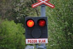 Semáforos en la cruce Fotografía de archivo libre de regalías
