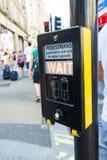 Semáforos en Londres Foto de archivo libre de regalías