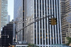 Semáforos en Nueva York Imágenes de archivo libres de regalías