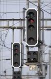 Semáforos ferroviarios Fotografía de archivo libre de regalías
