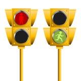 Semáforos peatonales Foto de archivo libre de regalías